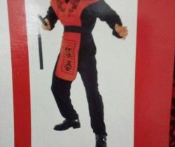 Disfraz adulto Chico Ninja Rojo Talla única Carnaval