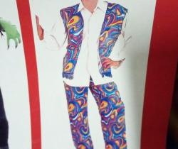 Disfraz adulto Chico Hippie años 60 Talla única Carnaval