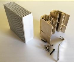 Lote 2 disipadores aluminio sin ventilador