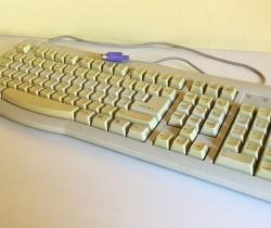 Teclado puerto PS2 blanco Turbo Xing