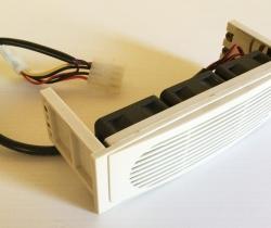 Ventilación frontal triple para disco duro