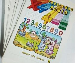 Lote completo de 25 Cuadernillos Rubio Operaciones y Problemas  E.G.B año 1977
