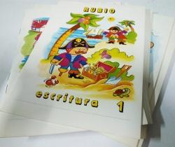 Lote completo de 13 Cuadernillos Rubio Escritura con letra negra normal. Año 1984.