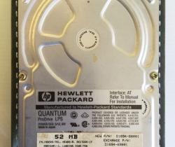 Disco Duro Vintage Hewlett Packard D1694-69001 52MB