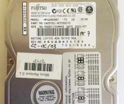 DISCO DURO FUJITSU IDE 40GB