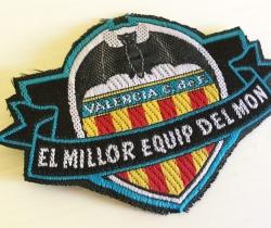 Parche de tela Escudo del Valencia C.F. El Millor equip del Mon