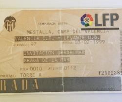Entrada del fútbol al Mestalla 1999