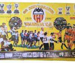 Puzzle gigante del Valencia CF 80 Aniversario Super Deporte 1999