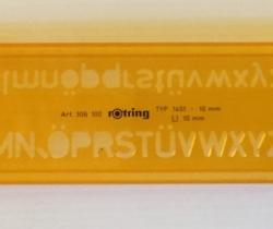 Plantilla letras Rotring TYP 1451 Art. 306 100 10 mm