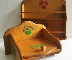 Estantería de especias y panera de madera mukali organizador especias cocina