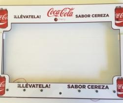 Coca Cola marco publicitario con luces Led 52cm
