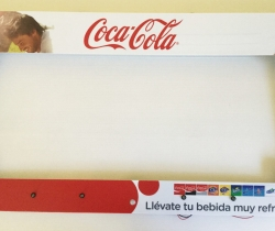 Coca Cola marco publicitario con luces Led 63cm