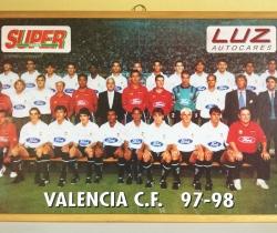 Póster enmarcado Valencia CF 97/98 Super Deporte y Luz Autocares