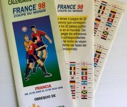 Calendario Oficial France 98 Caja Rural Valencia 1998
