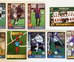 Lote de 9 cromos Fichas de la Liga 96/97 Mundi Cromo
