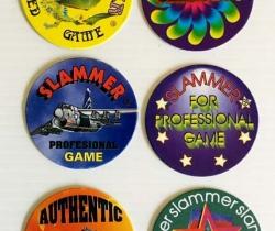 Lote 6 tazos Slammer American Game