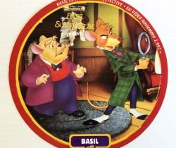 Adhesivo de Basil El ratón Superdetective – Disney – Regalo Quesitos El Caserío – 1992