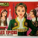 Álbum Maga Trajes típicos de todo el mundo – Casi completo faltan 5 cromos metalizados – 1977