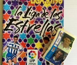 Álbum Chicle Liga 97/98 La Liga de las Estrellas con 14 cromos pegados + 2 sin pegar