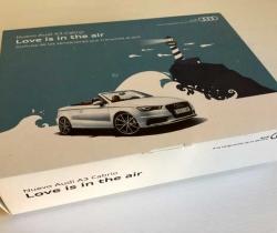 Caja 4 latas de aire Love is in the air de Audi A3 Cabrio