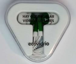 Auriculares publicidad ecovidrio