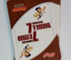 Baraja de cartas Choco Krispies de Kellogg's juego 7 y media