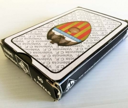 Baraja de cartas española incompleta del Valencia CF bajo licencia del club – 1996 – Naipes Iberia