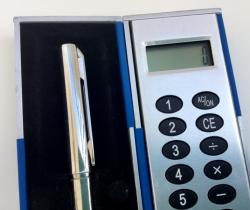 Calculadora con bolígrafo – para bolso o bolsillo