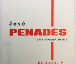 Calendario de bolsillo Esteve y Arnau – Instrumentos Musicales José Penadés – Valencia 1970