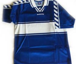 Camiseta de fútbol Boomerang – El Corte Inglés – Azul – Talla 50 – Años 90