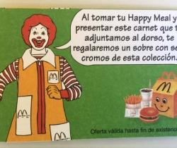 Carnet socio Mc Donalds – Happy Meal