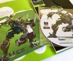 Carpeta Merchandising Twin Tech 3D con alfombrillas