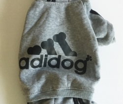 Chándal para perro Talla XL – Gris – Adidog