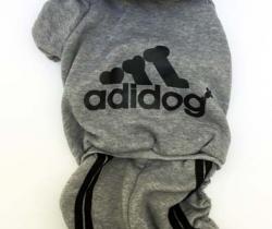 Chándal para perro Talla 2XL – gris – Adidog