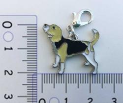 Colgante para collar de perro diseño Beagle