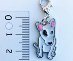 Colgante para collar de perro diseño Bull Terrier