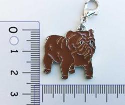 Colgante para collar de perro diseño Bulldog inglés