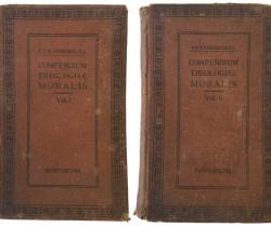 Compendium Thelogiae Moralis Vol. I y Vol II – Edición Décima – P.J-B Ferreres – 1919