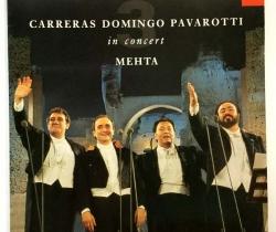 Disco de vinilo Carreras, Domingo, Pavarotti in concert MEHTA – DECCA – 1990