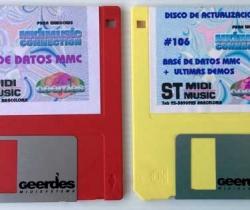 Disquetes de actualización midimusic connection – Base de datos MMC – Geerdes Midisystems – 1997