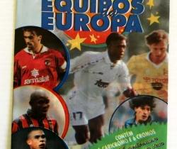 Sobre vacío Los mejores Equipos de Europa 96/97 Panini As melhores Equipoos da Europa