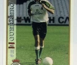 Ficha Última Hora Guerrero 265 Real Racing Club Mundicromo Las Fichas de la Liga 1997 / 1998