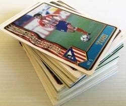 Lote de 76 cromos Fichas de la Liga 96/97 Mundi Cromo + 3 HOJAS TRANSPARENTES DE REGALO