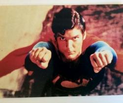 Fotografía de Superman volando 10x15cm años 90