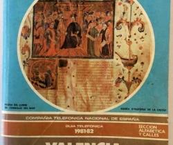 Guía Telefónica 1981-82 Valencia capital – Tomo 1 – Listín telefónico