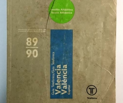 Guía Telefónica Valencia capital 89/90