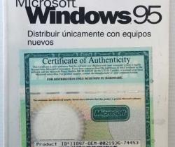 Introducción Microsoft Windows 95 – Certificado de Autenticidad