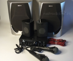 Karaoke K100 + Altavoces Sony + micrófonos Philips