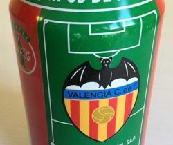 Lata Coca Cola Colección los equipos de 1ª División Valencia C.F. Liga 96/97