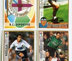 Mini Fichas de la Liga 97/98 – Pastelitos Bony, Tigretón y Pupitos – Mundicromo